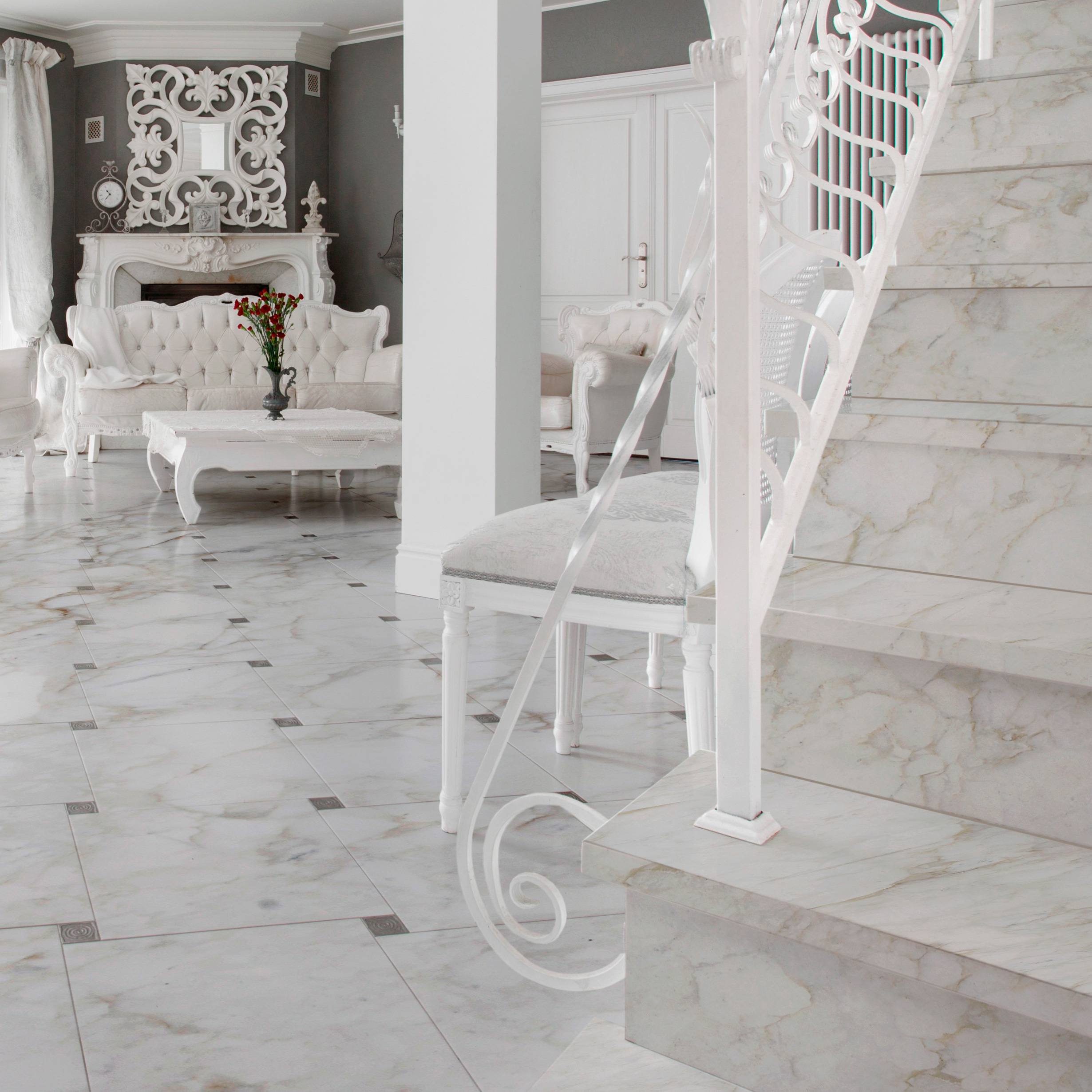 Marble Floor and Stair